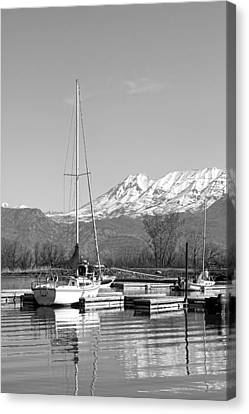 Sailboats At Utah Lake State Park Canvas Print by Tracie Kaska