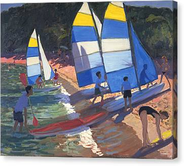 Sailboats South Of France Canvas Print by Andrew Macara