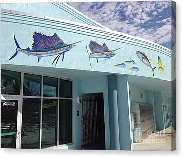 Fort Pierce Canvas Print - Sailfish Splash Park 5 by Carey Chen