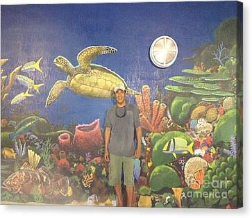 Mural Canvas Print - Sailfish Splash Park Mural 7 by Carey Chen