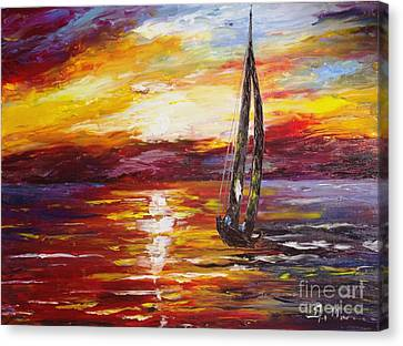 Sailing Canvas Print by AmaS Art