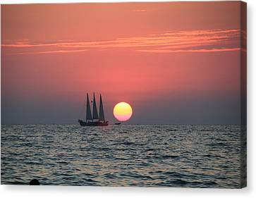 Sailing Away From The Sun Canvas Print