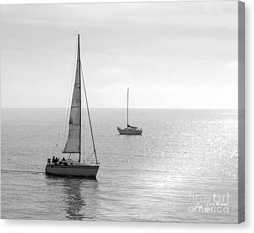 Sailing In Calm Waters Canvas Print by Artist and Photographer Laura Wrede