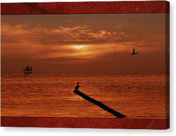 Sailing Into The Sunset Canvas Print by Tom York Images