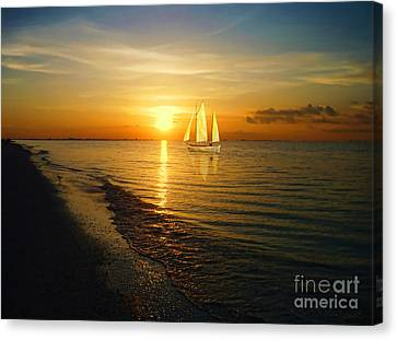 Sailing Canvas Print by Jeff Breiman