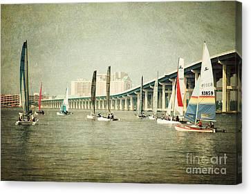 Sailing Canvas Print by Joan McCool