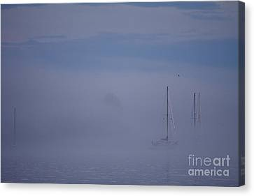 Sailing Mysterious Lake Superior Canvas Print by Kate Purdy