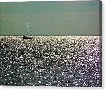 Canvas Print featuring the photograph Sailing On A Sea Of Diamonds by William Fields