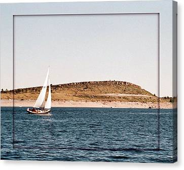 Canvas Print featuring the photograph Sailing On Carter Lake by David Pantuso