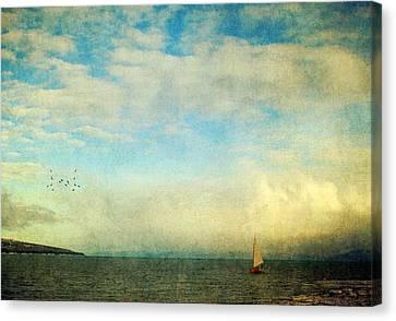 Sailing On The Sea Canvas Print by Michele Cornelius