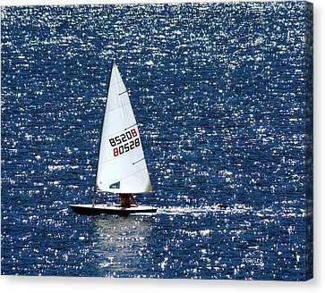 Canvas Print featuring the photograph Sailing by Patrick Witz