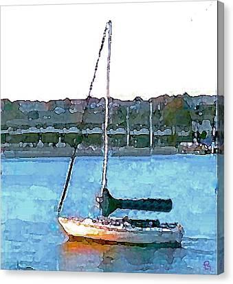 Sailing Canvas Print by Paula Greenlee