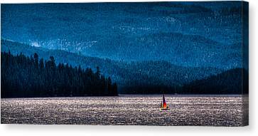 Sailing Priest Lake Canvas Print by David Patterson