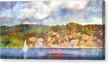 Sailing Seascape Impression Canvas Print