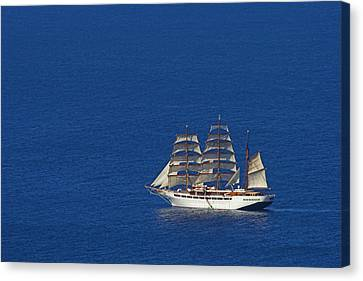 Canvas Print featuring the photograph Sailing Ship- St Lucia by Chester Williams