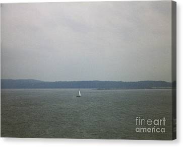 Sailing The Barnegat Canvas Print by Thomas Luca