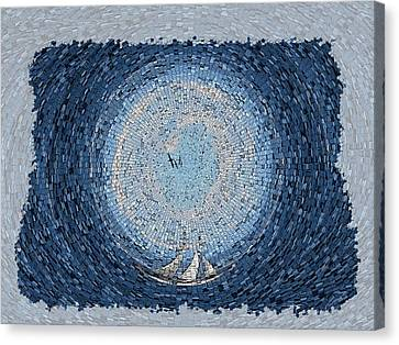 Sailing The Vortex Canvas Print