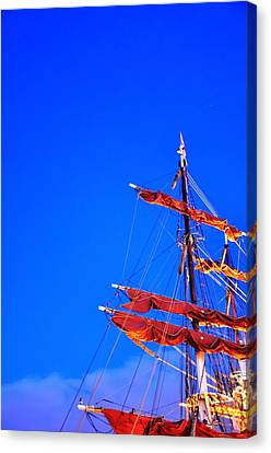 Sails Canvas Print by Barry R Jones Jr