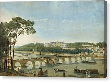 Saint-cloud During The Visit Of King Francois I, France, 1830 Canvas Print by Photos.com