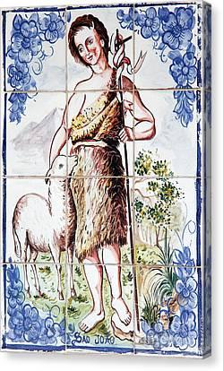 Ceramic Glazes Canvas Print - Saint John by Gaspar Avila