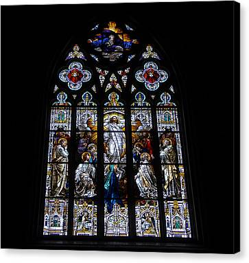 Saint Johns Stained Glass Canvas Print by David Lee Thompson