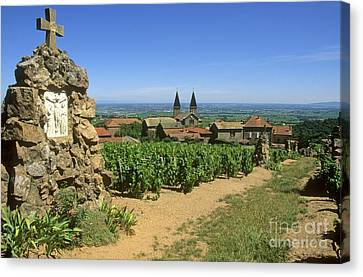Beaujolais Canvas Print - Saint Joseph En Beaujolais. France by Bernard Jaubert