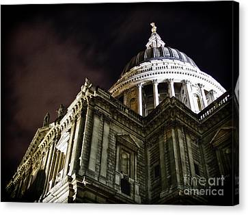 Saint Paul's Cathedral At Night Canvas Print by Thanh Tran