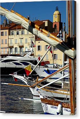 Canvas Print featuring the photograph Saint Tropez Harbor by Lainie Wrightson