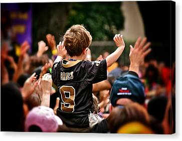 Canvas Print featuring the photograph Saints Boy by Jim Albritton