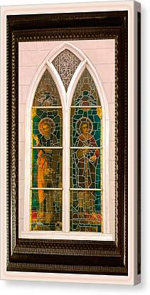 Saints In The Window Canvas Print by DigiArt Diaries by Vicky B Fuller