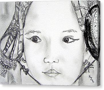 Napal Canvas Print - Sajani by Karen Ledbetter