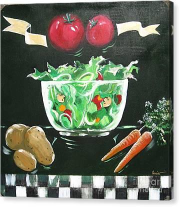 Salad Bowl Canvas Print