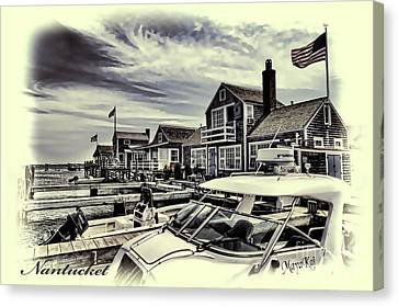 Canvas Print featuring the photograph Salem Street - Nantucket Harbor by Jack Torcello