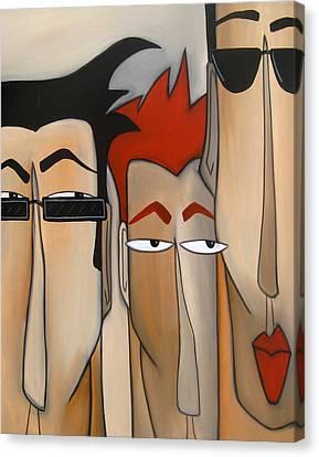 Sales Crew Canvas Print by Tom Fedro - Fidostudio
