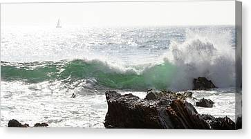 Canvas Print featuring the photograph Saling 1 by Michael Rock