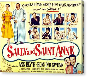 Sally And Saint Anne, Left Corner, Ann Canvas Print by Everett