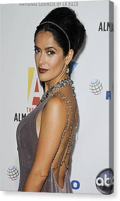 Salma Hayek At Arrivals For The Nclr Canvas Print by Everett