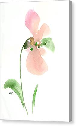 Salmon Flower Canvas Print
