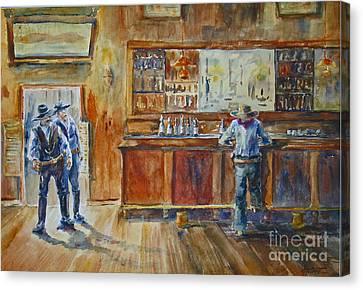 Saloon Showdown Canvas Print