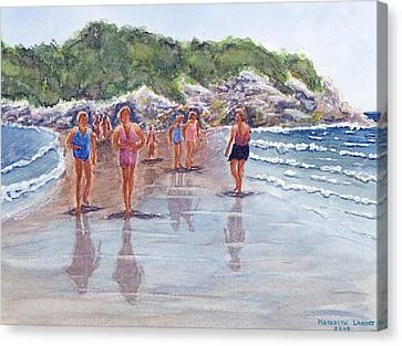 Salt Island Promenade Canvas Print
