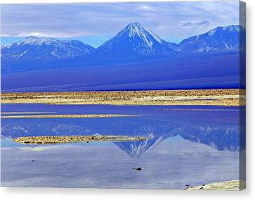 Salt Lake At The Atacama Desert Chile Canvas Print by Sandra Lira