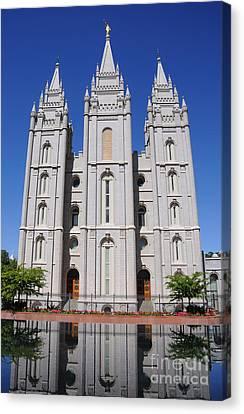 Salt Lake Mormon Temple Canvas Print by Gary Whitton