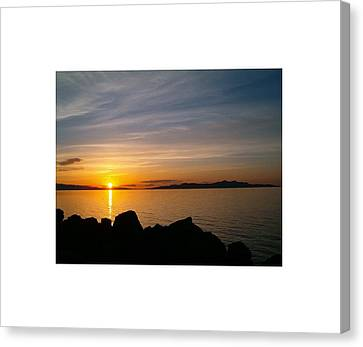 Salt Lake Sunset Canvas Print by Louise Mingua