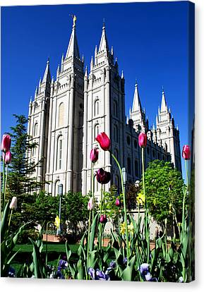Salt Lake Temple Canvas Print by Robert Gallup