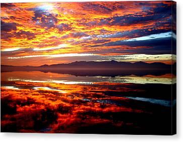 Salton Sea Sunset Number One Canvas Print