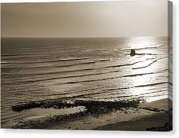 Saltwick Bay Canvas Print by Svetlana Sewell