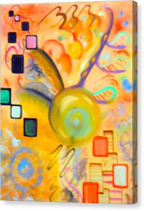 Salute To Basie Canvas Print by David Mintz