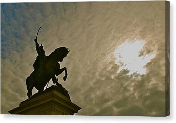 Canvas Print featuring the photograph Salute To The Sun by Eric Tressler