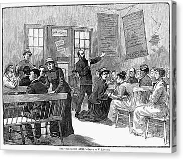 Salvation Army Canvas Print - Salvation Army, 1880s by Granger