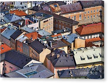 Salzburg's Roofs Austria Europe Canvas Print by Sabine Jacobs